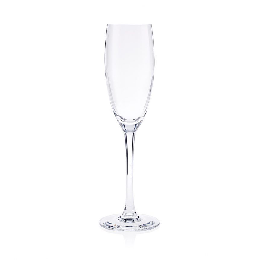 A cabernet champagne flute available to hire for weddings and events