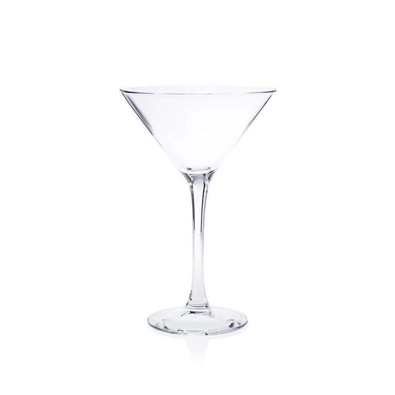 A martini glass ideal for cocktails and parties.