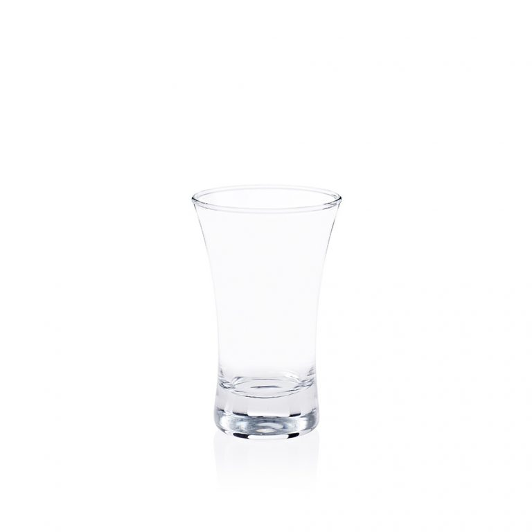 A shot glass ideal for use in bars