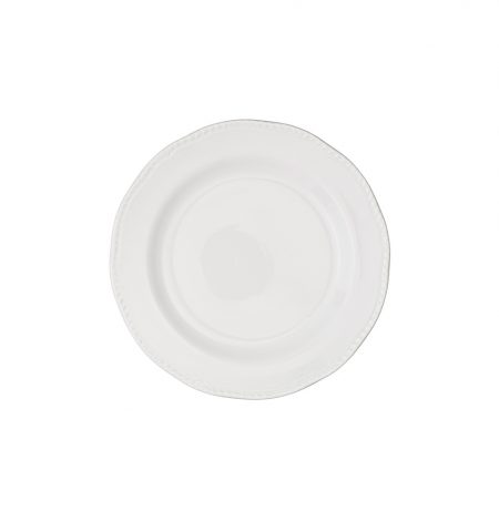 White dinner plate hire, ideal for weddings and events