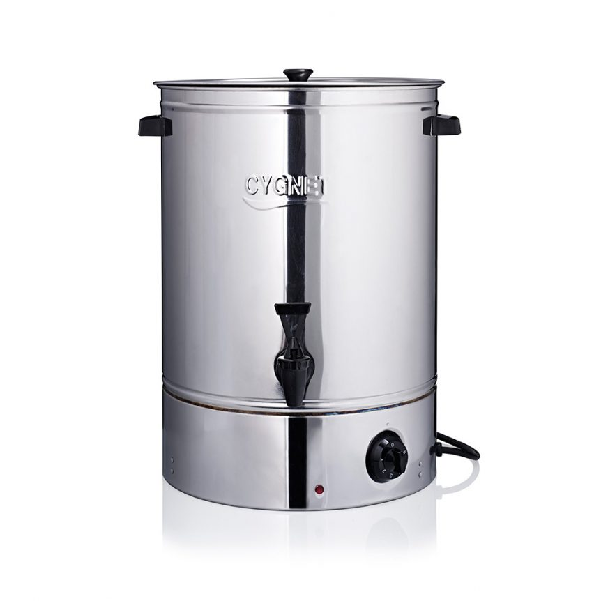 a stainless steel hot water boiler and urn hire service for caterers