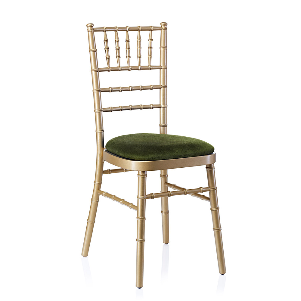 Event hire chivari chair gold green
