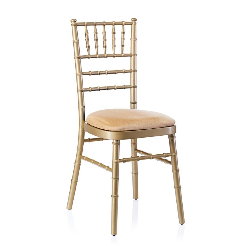 event hire chivari chair gold ivory
