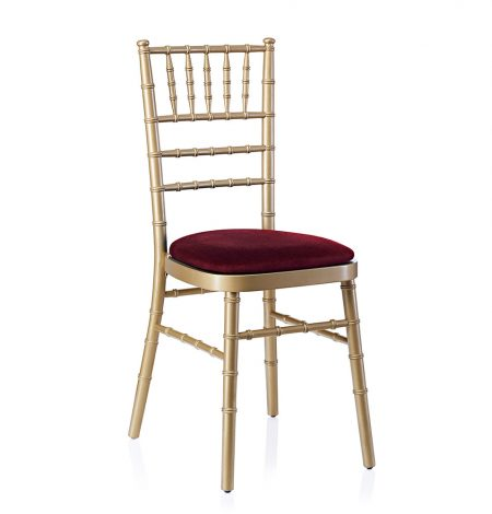 event hire chivari chair gold red