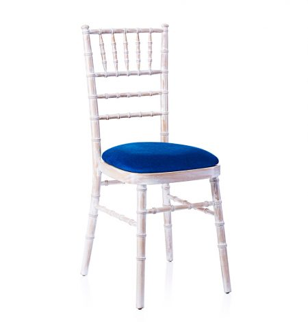 event hire chivari chair limewash electric blue