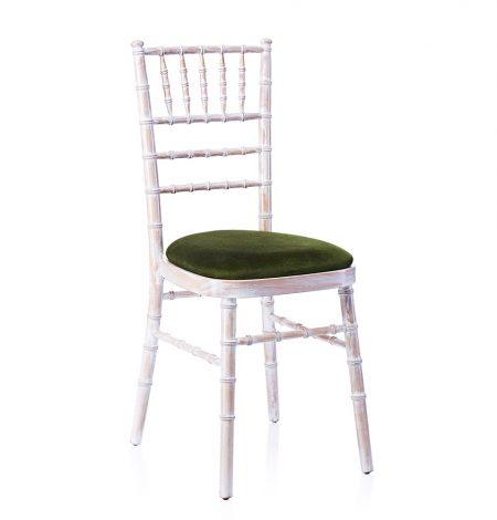 event hire chivari chair limewash green