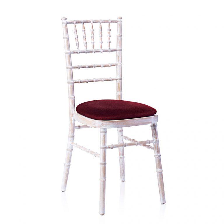 event hire chivari chair limewash red