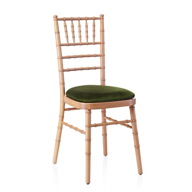 event hire chivari chair natural green