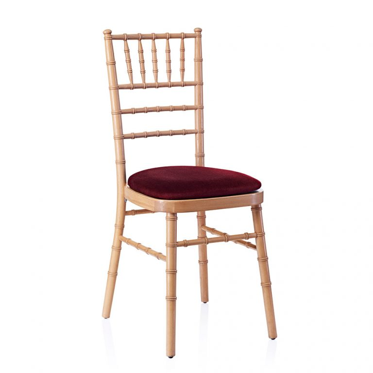 event hire chivari chair natural red