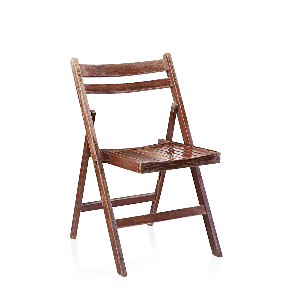 Chair woodenfolding brown