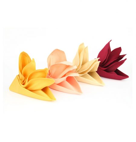 different coloured napkins that can be hired from Rochesters