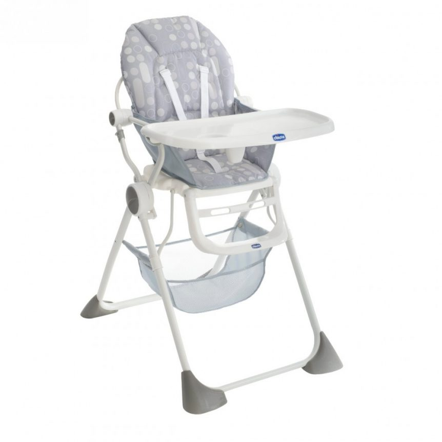 a child's high chair made by Chicco that is available to hire for events