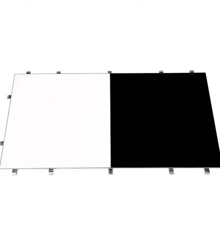 A black and white dance floor that can be used at a wedding or party