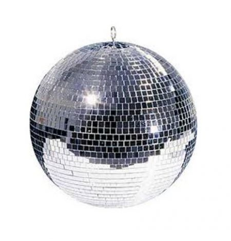 "disco ball hire is popular for weddings. This silver disco ball is 16"" round and has a motor"
