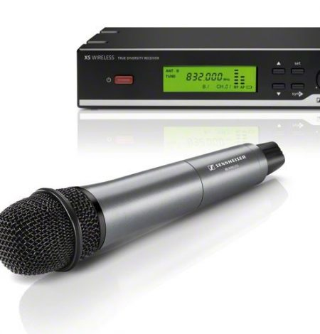 a wireless microphone that is available to hire for weddings in Dorset