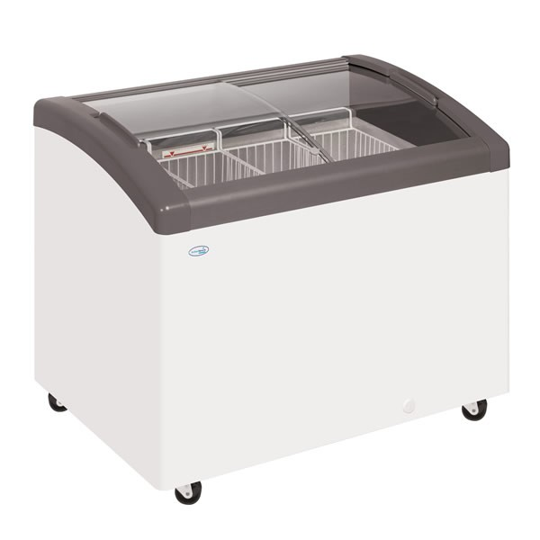 a white chest freezer that is available as a freezer hire service
