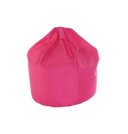 a pink bean bag that can be used indoors or out and is ideal for weddings and parties