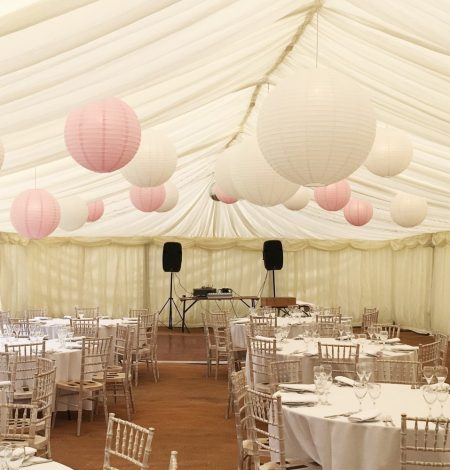 Pink and White Marquee Lanterns