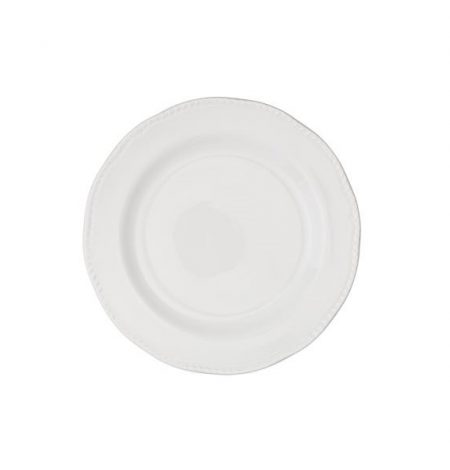 "A 9"" white dessert plate part of our crockery hire"