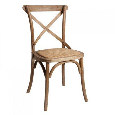 oak cross back chair hire
