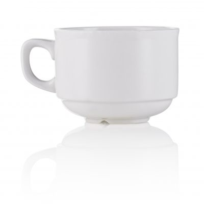 white coffee cup ideal for breakfast available to hire