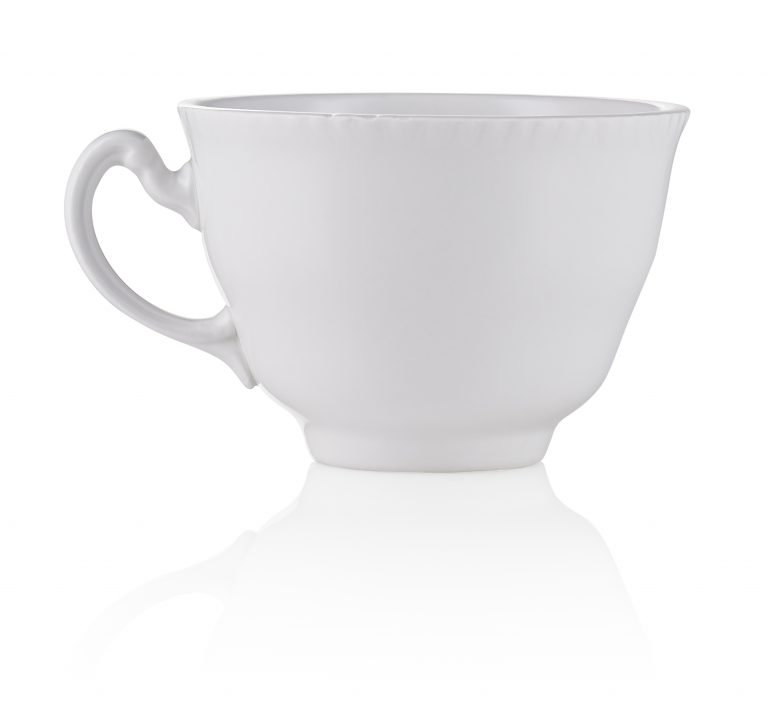 a white tea cup for hire