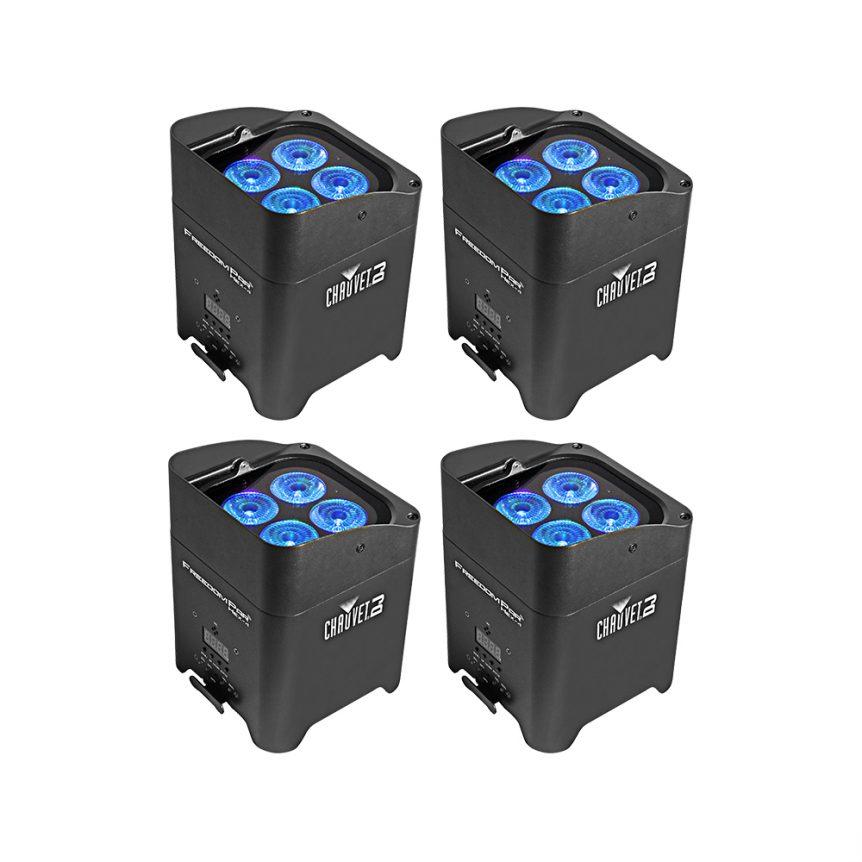 wireless uplighters, lighting hire package